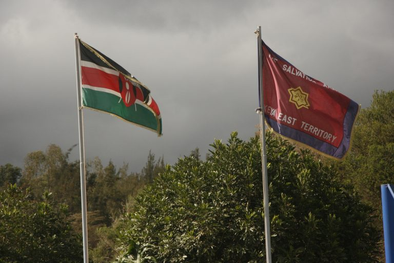 Kenya and Salvation Army Flags