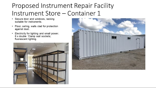 Proposed instrument store container