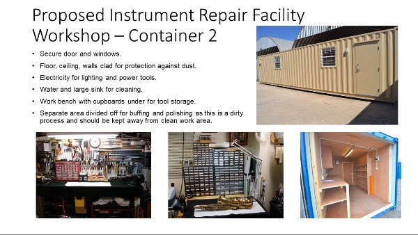 Proposed instrument repair workshop container