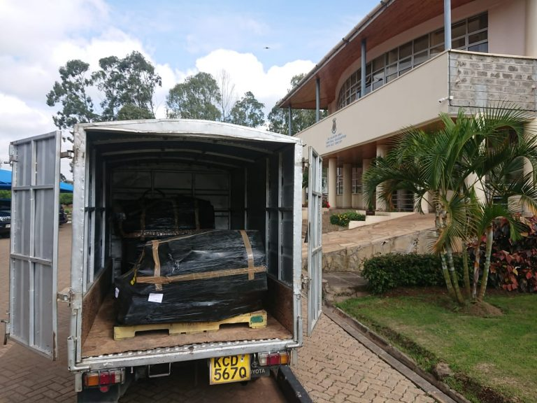 2019 Shipment of instruments arriving in Nairobi