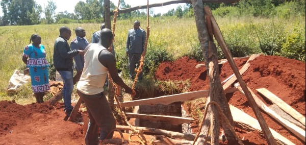 New Latrines being build at Mt. Kenya Primary School