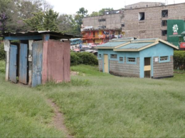Old Pit Latrines at Kibera