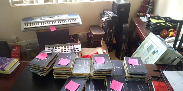 Music and Instruments being sorted before distribution