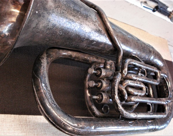 1 of 2 donated Tubas before restoration