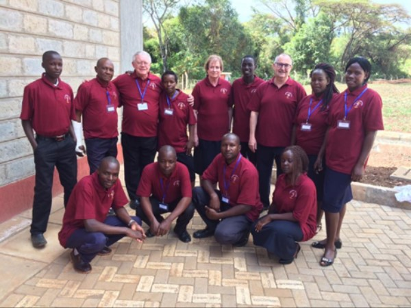 Group of Students with Kenya Trust Staff