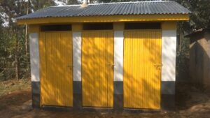 20- One of the 2 new sanitation block